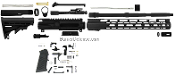 "AR-15 16"" M16 U-Build BarDef Complete Upper/Lower AR15 Kit 556"